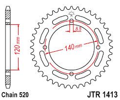 JTR 1413 Rear Sprocket