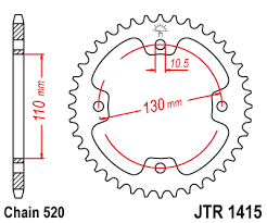 JTR 1415 Rear Sprocket