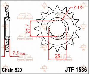 JTF 1536 Front Sprocket