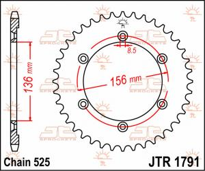JTR 1791 Rear Sprocket