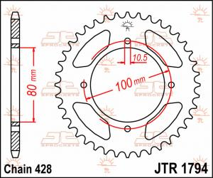 JTR 1794 Rear Sprocket