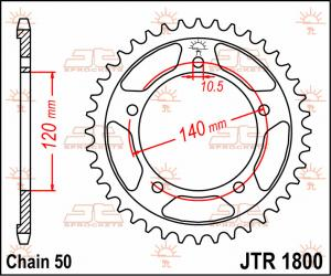 JTR 1800 Rear Sprocket