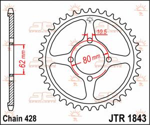 JTR 1843 Rear Sprocket