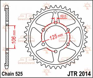 JTR 2014 Rear Sprocket