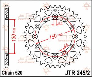 JTR 245/3 Rear Sprocket