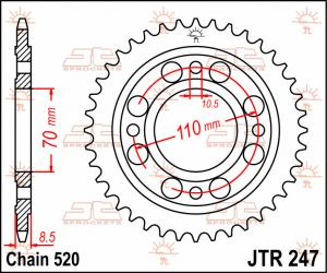 JTR 247 Rear Sprocket