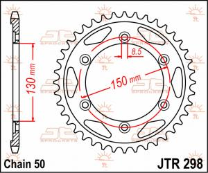JTR 298 Rear Sprocket