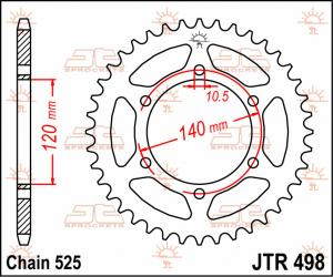 JTR 498 Rear Sprocket