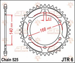 JTR 6 Rear Sprocket