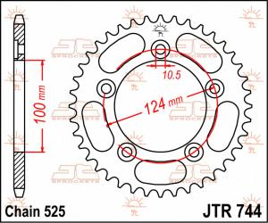 JTR 744 Rear Sprocket
