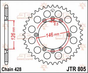 JTR 805 Rear Sprocket