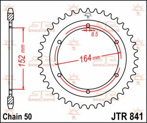 JTR 841 Rear Sprocket