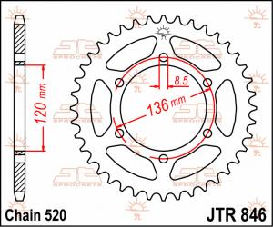 JTR 846 Rear Sprocket