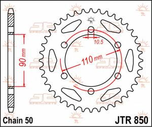 JTR 850 Rear Sprocket