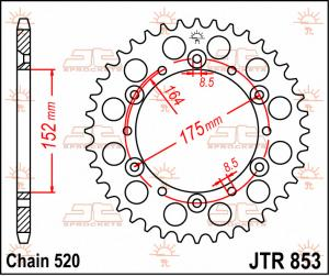 JTR 853 Rear Sprocket