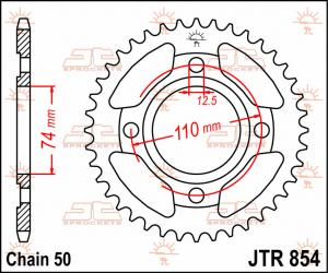 JTR 854 Rear Sprocket