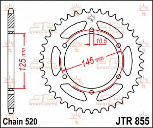 JTR 855 Rear Sprocket