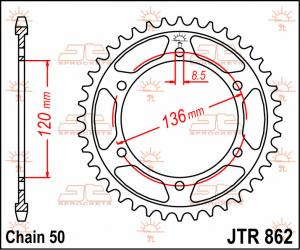JTR 862 Rear Sprocket