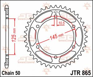 JTR 865 Rear Sprocket