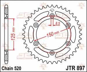 JTR 897 Rear Sprocket