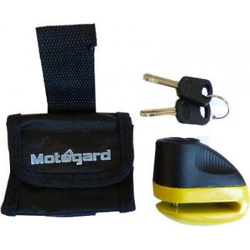 MOTOGARD 10mm MOTORCYCLE DISC LOCK WITH BLACK CARRY CASE & 2 KEYS