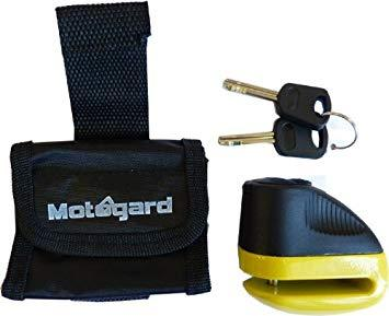 MOTOGARD SCOOTER DISC LOCK 5.5mm WITH BLACK CARRY CASE & 2 KEYS
