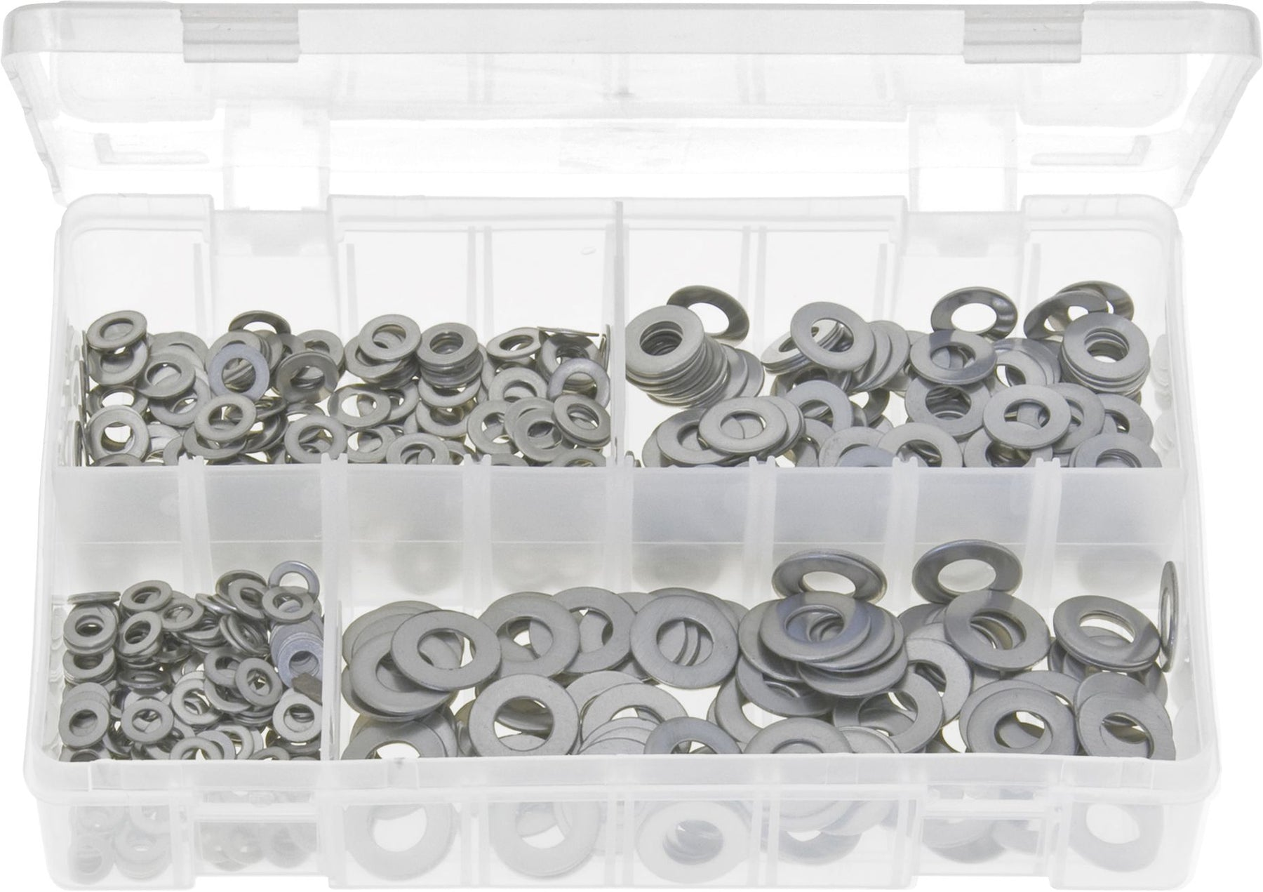 400pc Assortment Stainless Steel Washers Box
