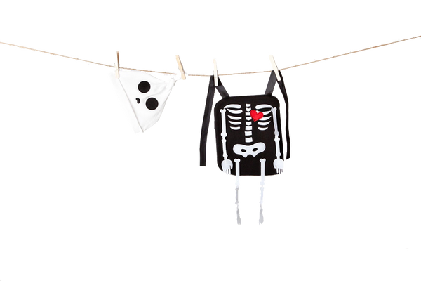 Rattles the Boy Skeleton Baby Carrier Costume
