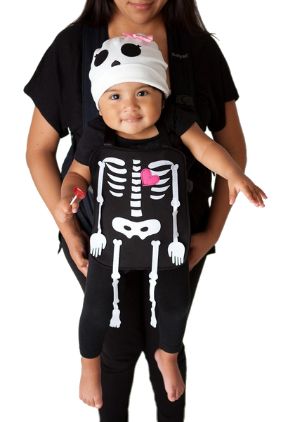 2c4597102301 Rattles the Girl Skeleton Baby Carrier Costume – tickles   toots