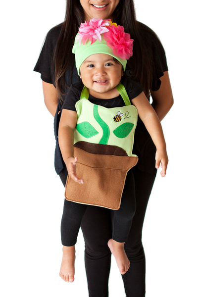 Peonie the Flower Pot Baby Carrier Costume