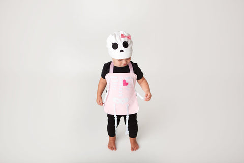 Rattles the Skeleton Pink Girl Baby Carrier Costume
