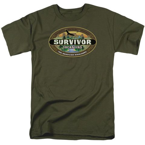 Survivor Tocantins Logo Military Green