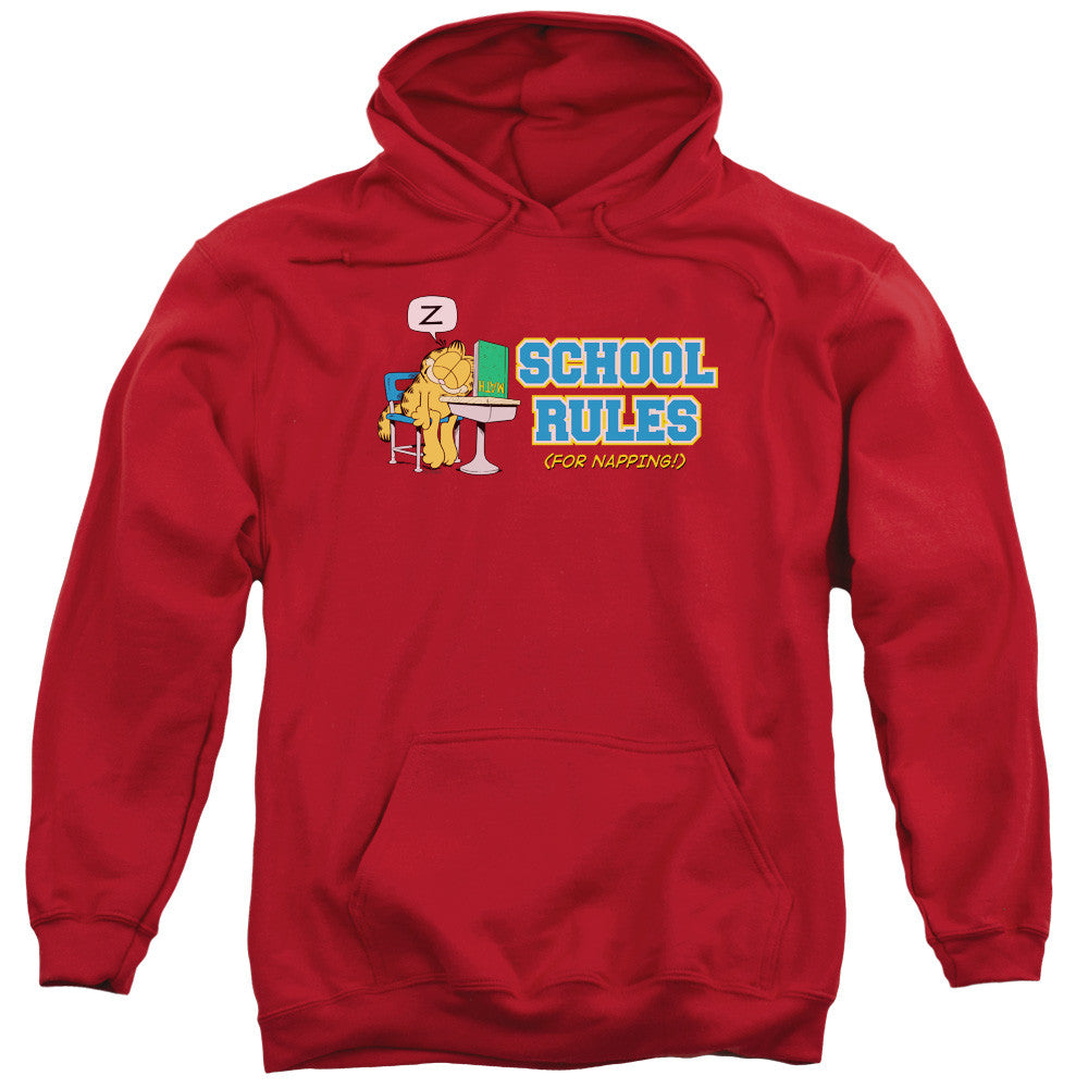 Garfield School Rules Red