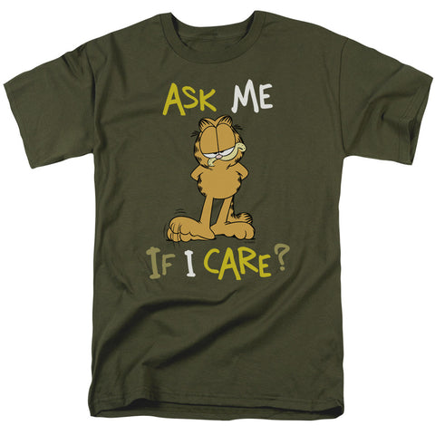 Garfield Ask Me If I Care Military Green