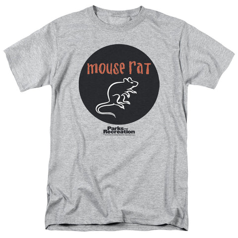 Parks And Rec Mouse Rat Circle Athletic Heather