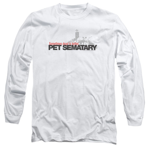 Pet Sematary Logo White