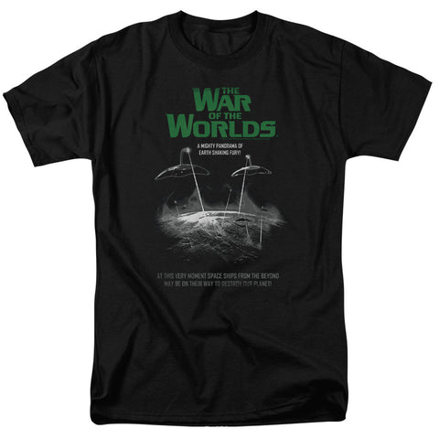 War Of The Worlds Attack Poster Black