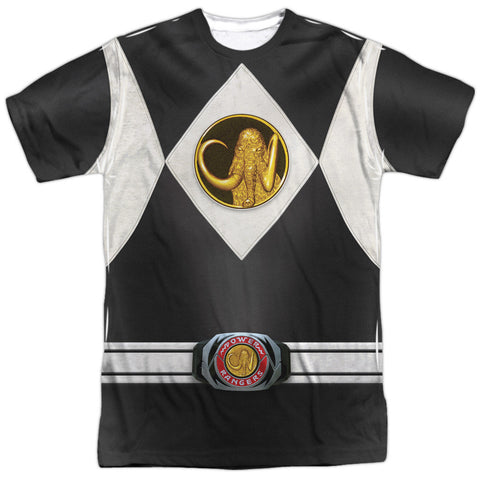 Power Rangers Black Ranger Costume White