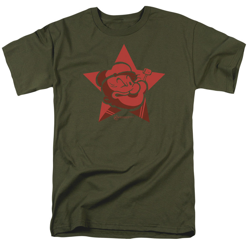 Popeye Red Star Military Green