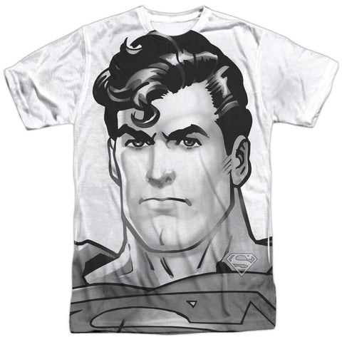 Superman Bw Supes Head White