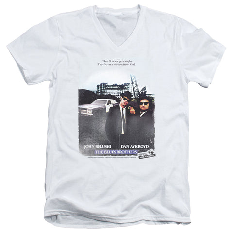Blues Brothers Distressed Poster White