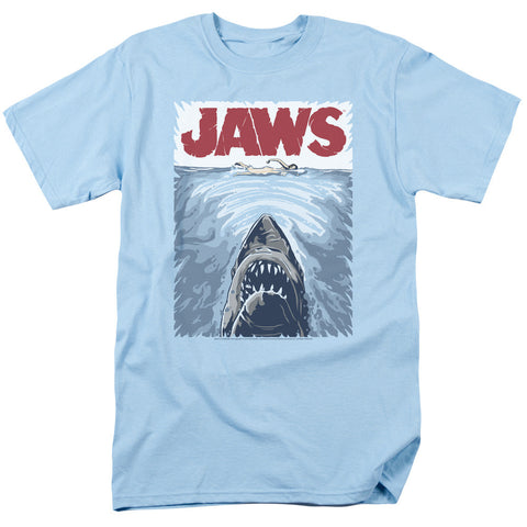 Jaws Graphic Poster Light Blue