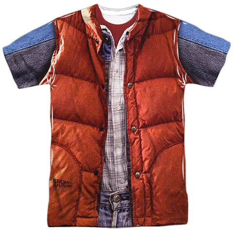 Back To The Future Mcfly Vest White