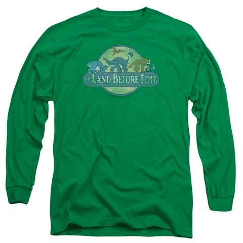 Land Before Time Retro Logo Kelly Green