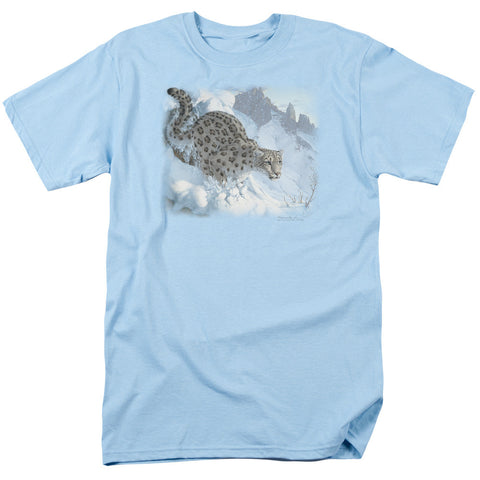 Wildlife Snow Leopard Light Blue