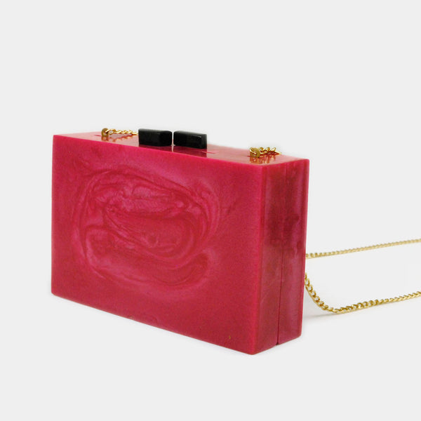 Bolsa clutch rectangular rosa
