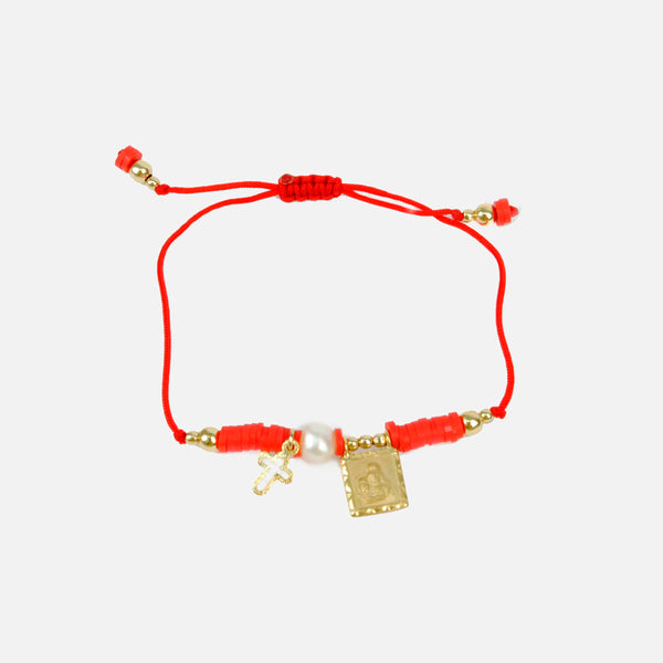 Pulsera finita ajustable color rojo