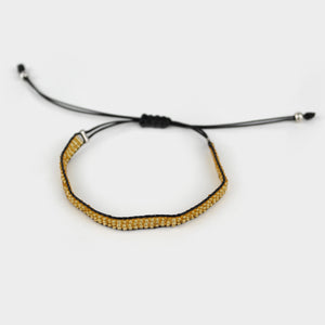 Pulsera de chaquira casual ajustable