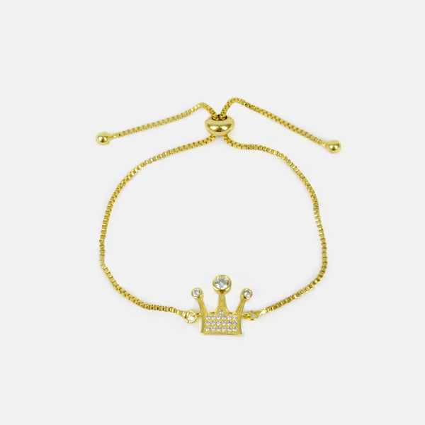 Pulsera finita ajustable color dorado