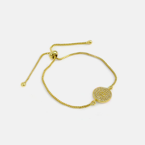Pulsera ajustable color dorado